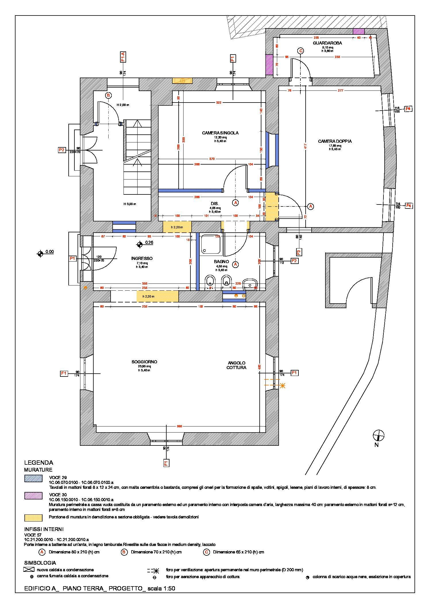 Edificio A: pianta piano terra